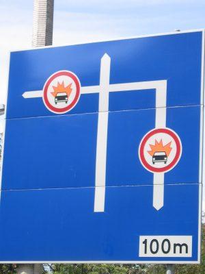 Navigating among life's sociopaths can be hazardous. Sign, Warsaw (2007)