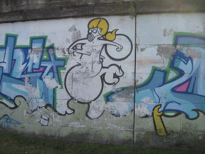 Sociopaths can leave anyone feeling damaged. Graffiti, Warsaw (2007)