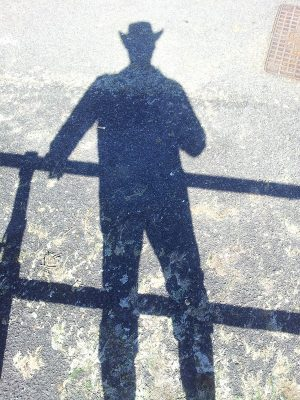 Sociopaths leave a long shadow, but then again don't we all. Author self-portrait by proxy