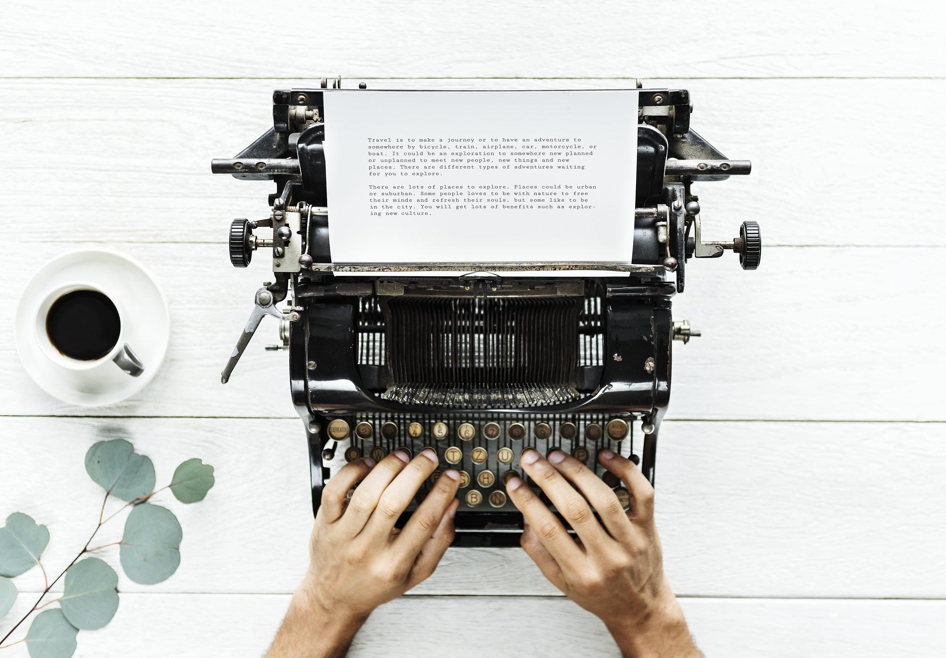 typewriter - winter 2019 screenwriting contest