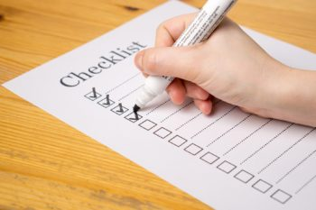 Checklist - before you start writing