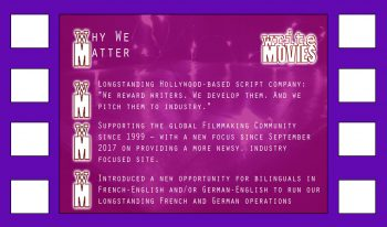 Why WriteMovies Matters - promotional graphic