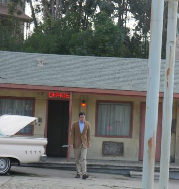 Norman Bates approaches, at Universal Studios Hollywood