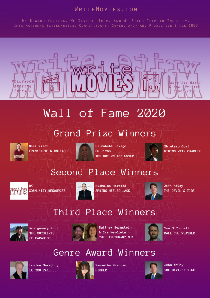 WriteMovies Wall of Fame 2020