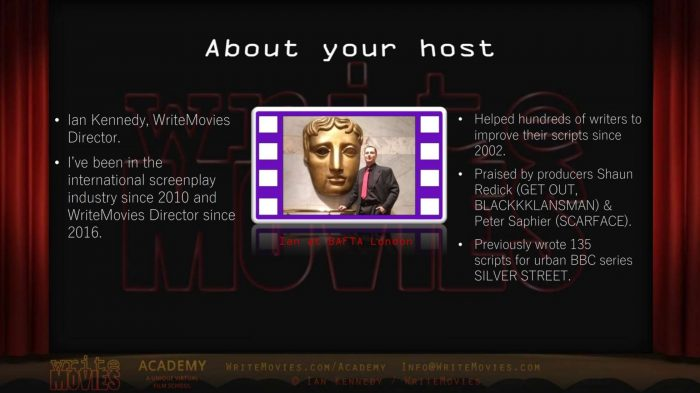 About your host - WriteMovies Director, Ian Kennedy